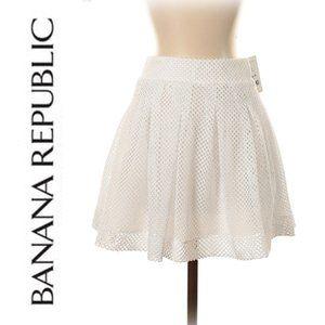 Banana Republic Dbl Layer Eyelet Lace Skirt Sz 0P